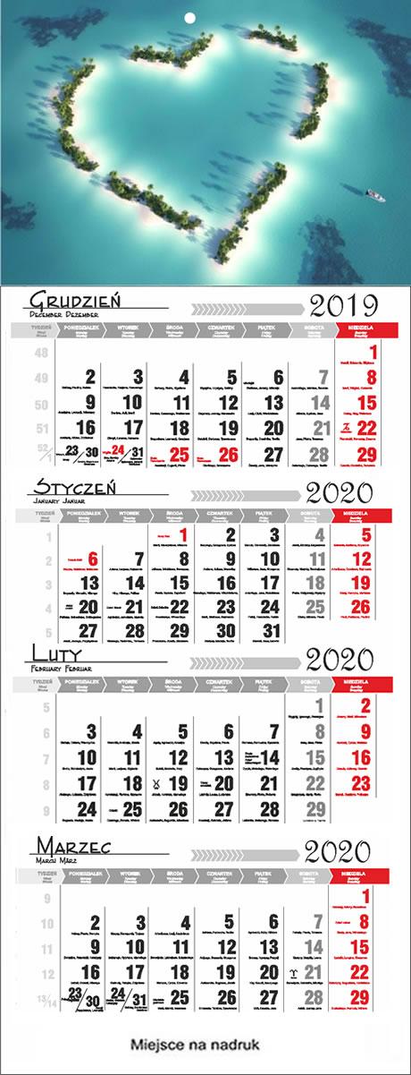 Kalendarze czterodzielne 2018  Przemyœl
