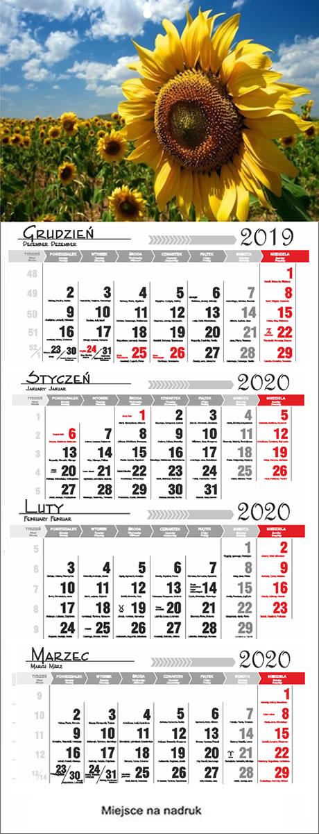 Druk kalendarzy stra?ackich  2018, Kalendarze czterodzielne 2018  Debica