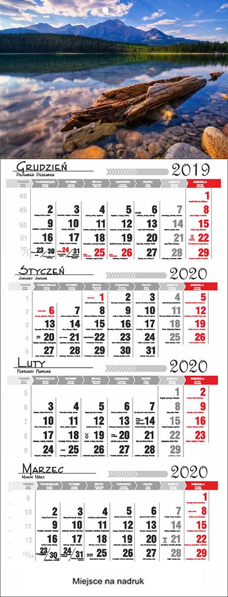 Kalendarze czterodzielne 2018  Krosno