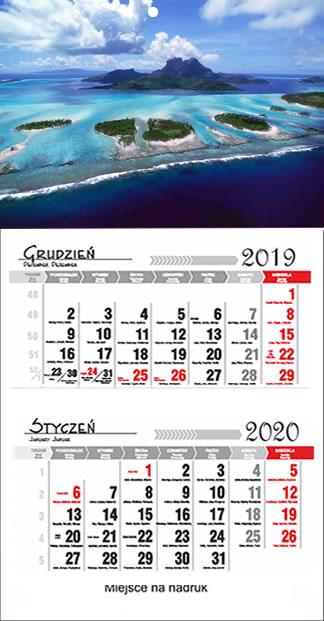 Kalendarze dwudzielne 2017  Nisko
