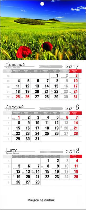 Kalendarze trójdzielne 2018 Rzeszów